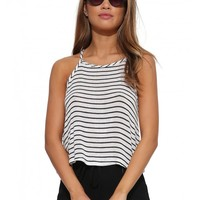 Ribbed Knitted Striped Top