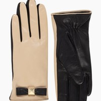 pyramid bow leather glove