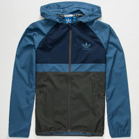 Adidas Adv Mens Windbreaker Blue Combo  In Sizes