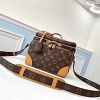 LV Louis Vuitton Steamer Men's and Women's Handbag Shoulder Bag