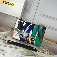 size:24-7-16 cm Versace women shoulder bags handbag Autumn and Winter new arrived colorful blue Leather Neverfull Tote Handbag Shoulder Bag Shopping Bags Purse Wallet