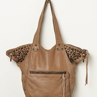 Free People Womens Darcey Leather Tote - Taupe, One