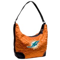 Miami Dolphins NFL Quilted Hobo (Orange)