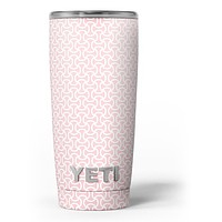 The Pink and White Axed Pattern - Skin Decal Vinyl Wrap Kit compatible with the Yeti Rambler Cooler Tumbler Cups