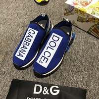 D&G DOLCE & GABBANA Men's Flyknit Fashion Sneakers Shoes