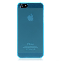 Blue Translucent Solid Color Case For iPhone 5 & 5S