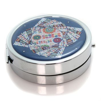 Health And Beauty BLUE PILL HOLDER Metal Days Of The Week 52254021