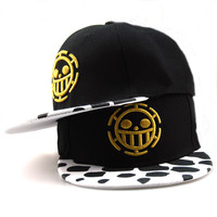 Free Shipping Fashion One Piece Baseball Cap Hat Trafalgar Law Caps For Women Men Snapback Caps Flat Hat