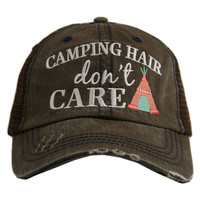 Camping Hair Don't Care Trucker Hat - 3 Colors