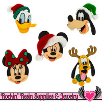 Disney Minnie & Mickey Mouse, Donald Duck, Pluto, and Goofy Christmas Licensed Buttons