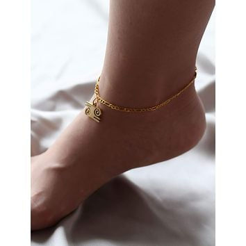 Stainless Steel Hollow Drop Anklet