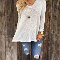 Silver Moon Knit Top