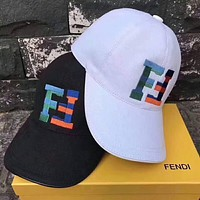 FENDI 2018 summer new men and women models wild sun visor caps hipster cap F-TMWJ-XDH
