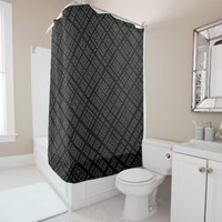 Ambient 32 - Designer black and white Shower Curtain