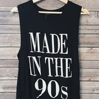 Made In The 90s Tank (Black)