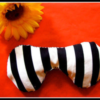 lavender and spelt eye pillow - jail stripes, scent and relaxation