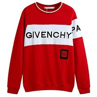 Givenchy  Women or Men Fashion Casual Loose Top Sweater Pants Trousers Set Two-Piece