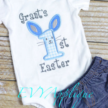 Baby Boys 1st Easter shirt personalized, personalized baby boy Easter Shirt, personalized Easter Outfit for Boys