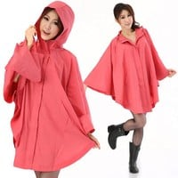 Poncho Impermeable Raincoats 2017 Hot Sale Motorcycle Rainwear Hiking Raincoat Women Japan Korean Fashion Poncho Rain Coat Pink