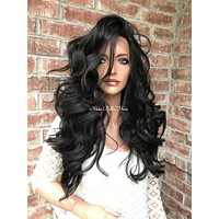 Natural SWISS 4x4 Silk Base lace front wig 20""
