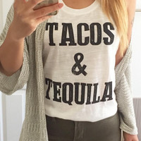 Tacos & Tequila  Graphic Top