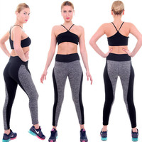 Hot Sale Yoga Double Sided Patchwork Hip Up Stretch Plus Size Pants [6338697668]