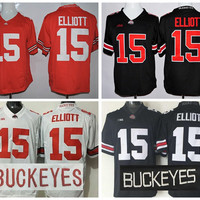 College 15 Ezekiel Elliott Jersey Ohio State Buckeyes Ezekiel Elliott Football Jerseys Hot Sale Men Fashion Stitched Team Red Black White