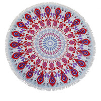 Morroccan Pattern Round Beach Towel/Yoga Mat Tapestry