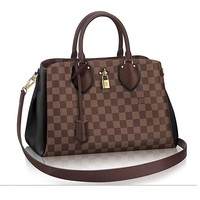 Authentic Louis Vuitton Damier Canvas Normandy Tote Handbag Article Article: N41487 Noir Made in France