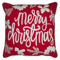 Chalk Art Merry Christmas Decorative Pillow with... : Target