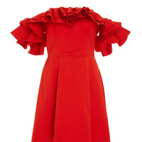 Lola Off Shoulder Ruffle Dress | Moda Operandi