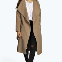 Kate Belted Waterfall Coat
