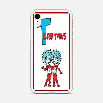 Thing 1 And Thing 2 iPhone XR Case