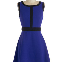 ModCloth Short Length Sleeveless A-line All In Deux Time Dress