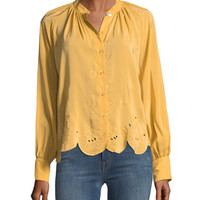 See by Chloe Scalloped Long-Sleeve Top