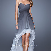 High Low Strapless Prom Dress from La Femme