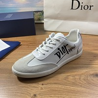 dior men fashion boots fashionable casual leather breathable sneakers running shoes 131