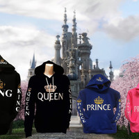 King,Queen,Prince,Princess, Family Hoodies
