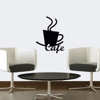Wall Vinyl Sticker Decal Art Design Coffee Sign for Kitchen Cafe Room Nice Picture Decor Hall Wall Chu911