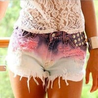 Casual High Waist Jeans Shorts Pants