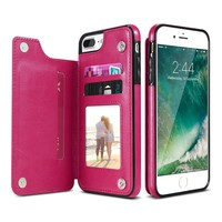 Leather Flip Stand Phone Case with Card Slot Back Cover