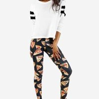 Give Me Pizza Leggings by See You Monday - New Arrivals
