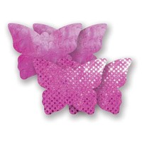 Bristols Six | Nippies Nipple Cover Pasties Concealers Adhesive Waterproof Hot Pink Butterfly