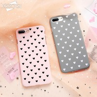 KISSCASE Cute Girly Cases For iPhone 6 6s Case For iPhone 7 8 Plus X 10 5s SE 5 Love Luxury Ultra Thin Hard PC Back Cover Coque