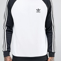 adidas Originals Superstar Crew Neck Sweatshirt In White BK5822 at asos.com