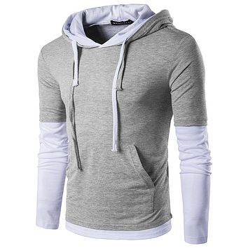 Casual Hoodies Men 2017 Spring Mens Hoodies Sweatshirts Cotton Thick Slim Fashion Male Hooded Jackets Men Coat Polo Hoody
