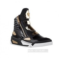 Indie Designs Versace Inspired Techno Gold Panelled Sneakers