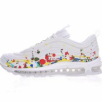 "Nike Air Max 97 Premium Retro Running Shoes ""White Airspay"" 921826-202"