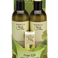 Earthly Body Miracle Oil Shampoo & Conditioner Pack Free Gift