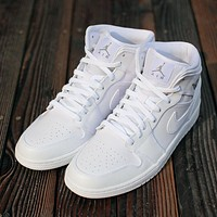 Air Jordan Fashion leisure sports warm high-top shoes for men and women-10